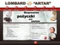 Screenshot strony www.lombardartar.pl