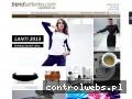 Screenshot strony www.trendsetterka.com