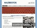 Screenshot strony www.dekarzmazbestos.pl