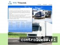 Screenshot strony www.transport.rstrans.eu