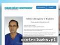 Screenshot strony chirurgiakrakow.com.pl