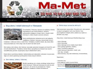MA-MET SP. Z O.O. WARSZAWA skup złomu łomianki