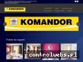 Screenshot strony komandorszafy.com