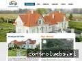 Screenshot strony www.domynaprzegorzalach.pl