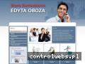 Screenshot strony www.biurooboza.pl