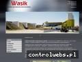 Screenshot strony www.wasik.pl