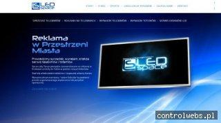 Reklama na telebimach ledspace.pl