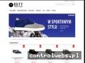 Screenshot strony www.butypodwyzszajace.pl