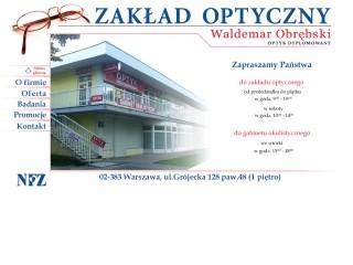Optyk Waldemar Obrębski Zakład Optyczny Warszawa Ochota