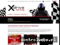 Screenshot strony www.xdrivekarting.pl