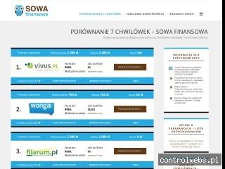 Sowafinansowa.pl – porównaj oferty chwilówek