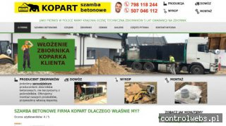 Szamba betonowe KOPART - producent - dostawa cała Polska!