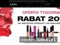 Screenshot strony www.nyx-cosmetics.pl