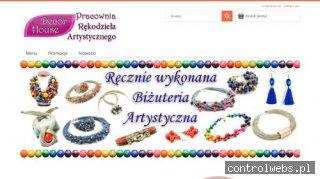 Decor-house.com.pl - naszyjniki z kolorowego lnu