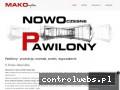 Screenshot strony pawilony.net.pl