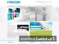 Screenshot strony www.unicum.com.pl
