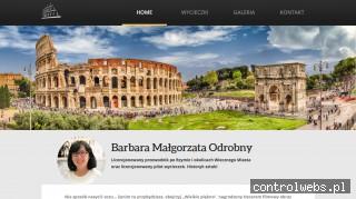 Barbara Odrobny - licencjonowany przewodnik po Rzymie