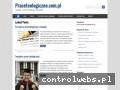 Screenshot strony praceteologiczne.com.pl