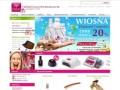 Screenshot strony www.pazurki.com.pl