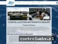 Screenshot strony czartermazurygrabski.pl