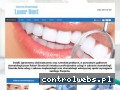 Screenshot strony www.laserdentbroniecki.pl