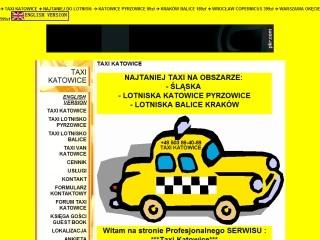Taxi Katowice-Taxi Lotnisko Pyrzowice-Taxi Lotnisko Kraków