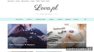 Lova strona dla kobiet o tematyce lifestyle