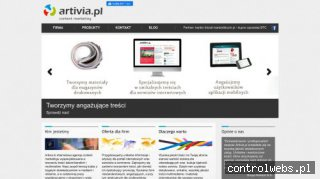 Artivia.pl content marketing