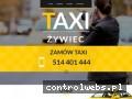 Screenshot strony taxi-zywiec.pl