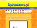 Screenshot strony www.optymizmy.pl