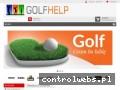 Screenshot strony www.golfhelp.pl