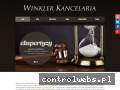 Screenshot strony www.winklerkancelaria.pl