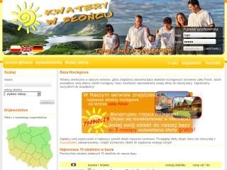 www.kwaterywsloncu.pl Twoja baza noclegowa