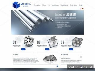 MPC METAL Producent prętów kwadratowych