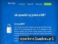 Screenshot strony sprawdzswojbik.pl