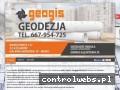 Screenshot strony geodezja-geogis.pl