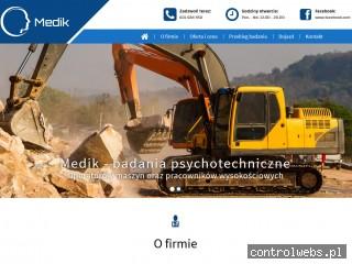 Medik badania psychotechniczne Mysłowice