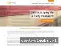 Screenshot strony www.turtrans.eu