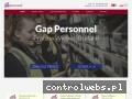 Screenshot strony www.gap-personnel.pl