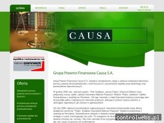 Pozyskiwanie kapitału Causa
