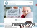Screenshot strony www.pediatrawizytydomowe.waw.pl