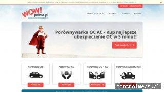 Porównywarka ubezpieczeń OC - wowpolisa.pl