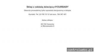 Sklep 4yourbaby - ubranka dla dzieci Warszawa, Łomianki