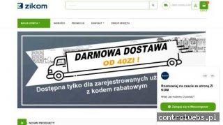 Sklep internetowy typu outlet komputerowy - zikom.pl