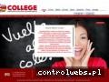 Screenshot strony collegecentrum.com