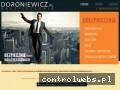 Screenshot strony www.doroniewicz.pl