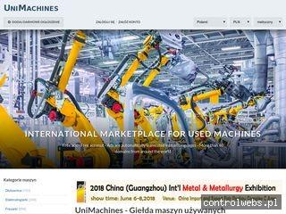 UniMachines - giełda maszyn