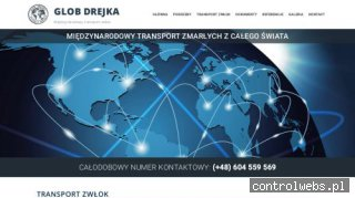 Transport zwłok z zagranicy - GLOB Drejka