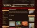 Screenshot strony aginex-tkaniny.pl