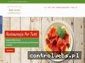 Screenshot strony restauracjapertutti.pl